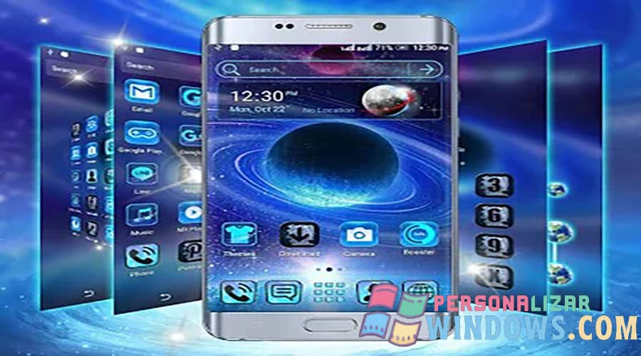 Galaxy Space Launcher Theme para Android
